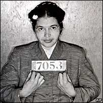 A booking photo from the Montgomery, Alabama sheriff department of Rosa Parks
