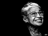 Rosa Parks receiving the Congressional Medal of Freedom in 1999