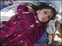 Semi-comatose girl in Banna Allai