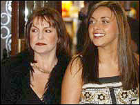 Charlotte Church with mother Maria
