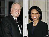 Paul Martin and Condoleezza Rice