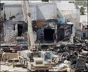 Bomb scene in Doha, Qatar