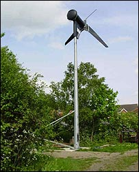 Mr Nisbet's wind turbine