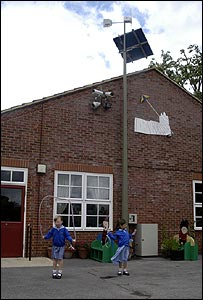Wind turbine at a primary school