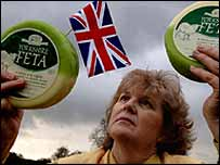 Judy Bell with the Yorkshire 'Feta'