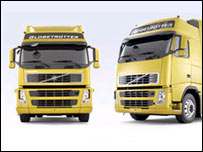 Volvo trucks with globetrotter cabs