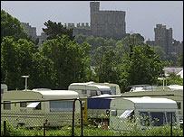 Traveller camp near Windsor
