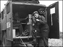 BBC broadcasting truck in WWII