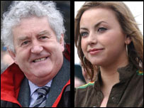 Rhodri Morgan and Charlotte Church at the garden opening