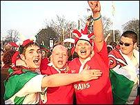 Grand Slam celebrations at Cardiff's City Hall