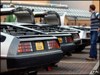 DeLoreans parked in Basildon