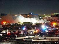 Blast scene in Doha, Qatar