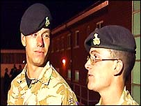 Pte Lee Foster and Pte Damien Finney (L-R)