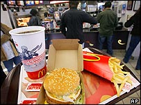 McDonald's fast-food restaurant in New York