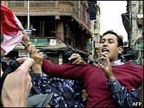 Protester in Nepal