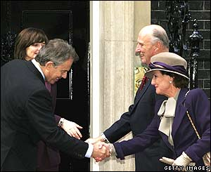 The king and queen of Norway meet Tony and Cherie Blair