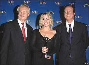 David Davis, Billie Piper and David Cameron