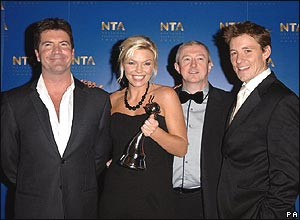 Simon Cowell, Kate Thornton, Louis Walsh and Ben Shepherd