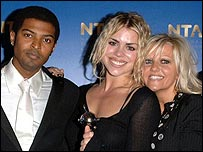 Noel Clarke, Billie Piper and Camille Coduri