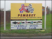 Pembrey motorsports centre sign