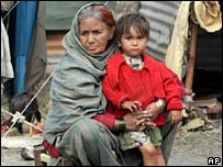 Earthquake survivors in Muzaffarabad, Pakistan