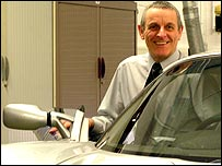 senior lecturer Denis Marchant with Lotus Exige
