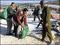 Israeli checkpoint at entrance to Tulkarm