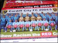 Football anti-racism poster