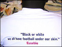 T-shirt with anti-racism message