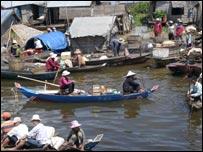 Cambodian fishing community