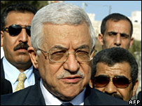 President Mahmoud Abbas arrives in Ramallah on Tuesday