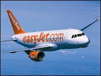 Easyjet plane in flight