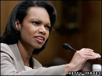 US Secretary of State Condoleezza Rice