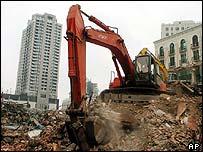 Construction work in Shanghai