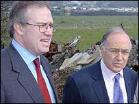 John Baron with Michael Howard