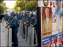 Riot police in Baku