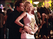 John Travolta and Uma Thurman in Be Cool