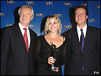 Billie Piper, David Davis and David Cameron