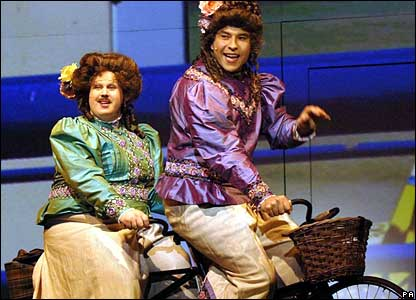 Matt Lucas and David Walliams as transvestites Florence and Emily