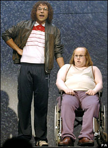 David Walliams and Matt Lucas as Lou and Andy in Little Britain Live