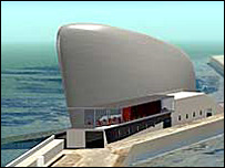 Architect's image of the Turner Contemporary gallery
