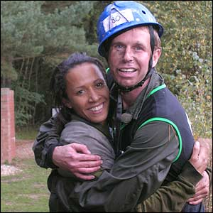A hug from Kelly Holmes