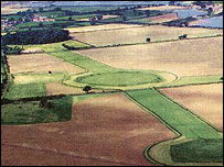 Thornborough Henge from the air