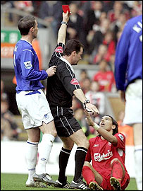 Bbc Sport Football My Club Liverpool Baros Sorry For Tackle On Stubbs