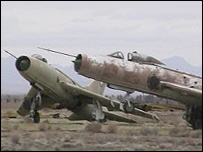 Abandoned Migs at Shindand airfield