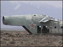 Soviet wreckage at Shindand airfield