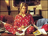 Actress Renee Zellweger as Bridget Jones