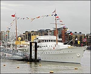 The Norwegian royal family's yacht
