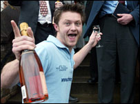 A Chester student celebrates