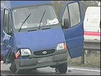 The victim's van